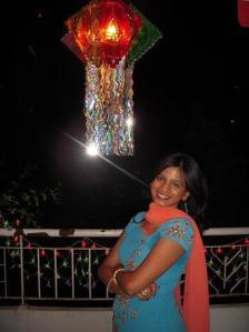 Diwali Kandil-My younger sis